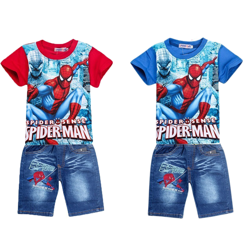 Summer Tops Baby Kids Cothes For Boys Outfits Sets 2018 Tiny Cottons Spiderman Tshirt +  ...