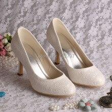 Бум кружева свадебное белые туфли дамы высокие каблуки острым носом 2016 прямая поставка