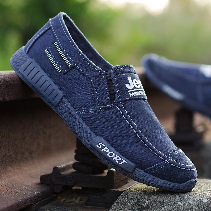 2018 baru musim gugur dan musim dingin sepatu kanvas pria berpotongan - Sepatu Pria - Foto 5