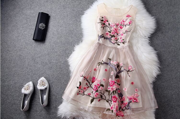 Xxxl Pour Robes D'été pu Style Européenne Printemps Robe Femme De Supérieure Mode Xxl Tenue Mince Vêtement 2015 Ciel Qualité Noir Fête kaki Élégantes wUYaOqwx
