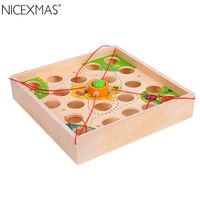 NICEXMAS Pull Ball Desktop Game Funny Intelligent Educational Interactive Game Toy for Kids Children
