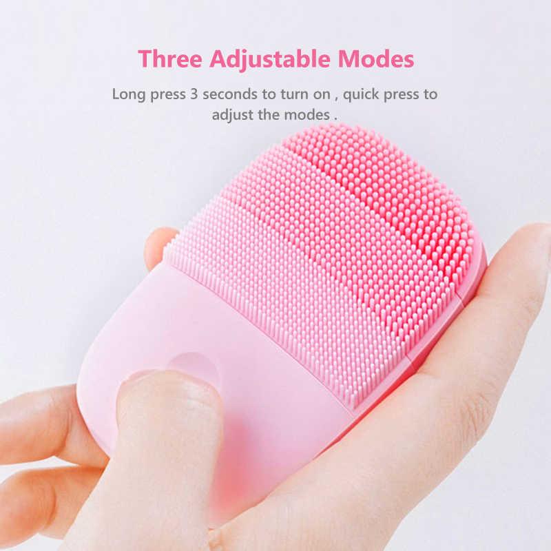 Cepillo de limpieza Facial oficial InFace, herramientas de cuidado de la piel de la cara, limpiador sónico eléctrico de silicona impermeable, masajeador de belleza