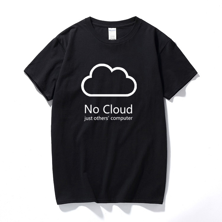 Computer Cloud T-shirts Creative Man Cotton Short Sleeve Summer Style Tee shirts New Casual Funny Geeks T shirts Boys ...
