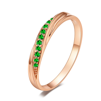 Top Quality Wedding Party Finger Rings For Women Fashion Brand Austrian Crystal Tail Ring Vintage Jewelry DWR314M 7