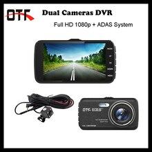 Mejores Ventas de 4.0 pulgadas IPS Pantalla Coche DVR 1080 P Full HD de Coches Dash Cam Dual Lente Negro Caja de Coches con Sistema de Visión Nocturna ADAS Logger
