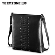 New Men Shoulder Bag Teemzone Brand Men's Messenger Bag Cowhide Handbag Crossbody Bag Business Casual Briefcase Free Shipping