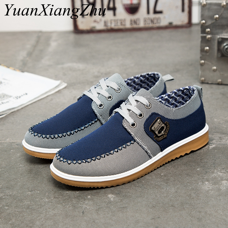 Man Casual Shoes Men Sneakers New Denim Lace-up Canvas Shoes Mens Footwear 2018 Spring Summer Plimsolls Breathable Flat Sneakers z suo men s shoes pure color denim casual shoes men s wear in spring and summer of canvas shoes with flat sole zs16106