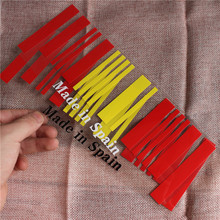 1pc 9x25cm Made in Spain Flag Bar Code Car Stickers PVC Decal Styling For Seat FR Toyota mazda Fiat skoda Renault Kia Benz BMW