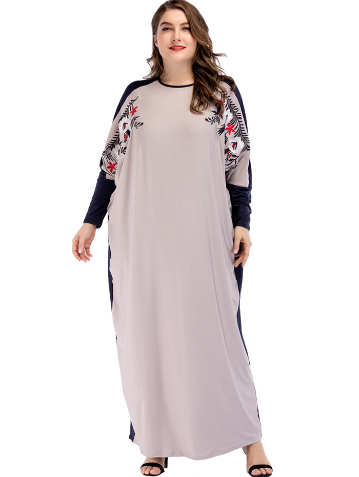 Dolman Sleeve Maxi Dress