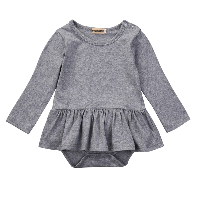 854fc706334 Newborn Infant Baby Girls Skirt Romper Long Sleeves Cotton Jumpsuit One  Piece Outfits Sunsuit Clothes