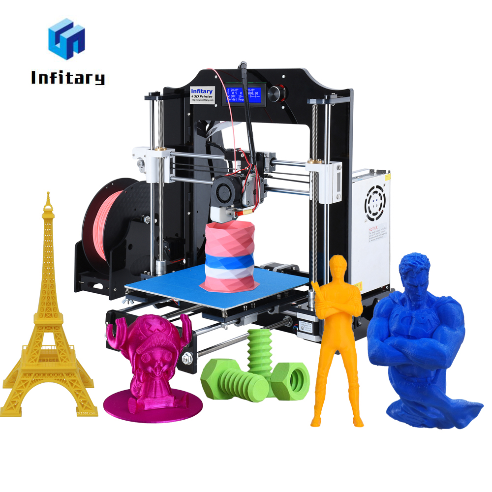 2018 Newest Infitary M508 3d printer Electronic Kit with 60 Meters PLA Filaments Original Arduino Mega2560 Firmware 3d Printer