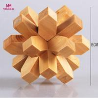 6PCS 3D IQ Game Fun Puzzle Wooden Intelligence Brain Teaser Toy For Party Favors