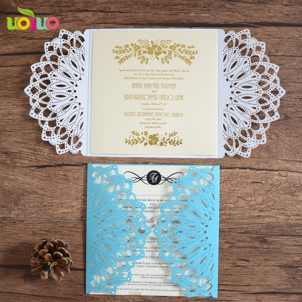 Unique Wedding Invitation Card Laser Die Cut Invitations In Cards