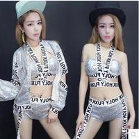Dj Sequin Bodysuit Women S Suit Nightclub Female Singer Dancers Clothing Nightclub Pole Dance Bar Ds