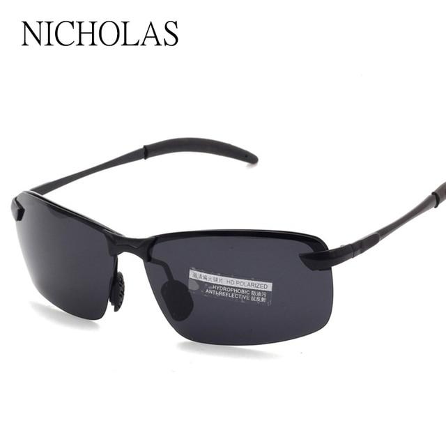 Marca Condução Pesca Esportiva Polarizada Óculos De Sol Dos Homens óculos  de Armação de Metal óculos 646c87638b