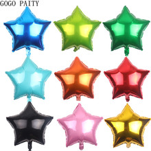 лучшая цена GOGO PAITY  Free shipping multi-color 18-inch five-pointed star aluminum balloon festive party decorations layout balloons