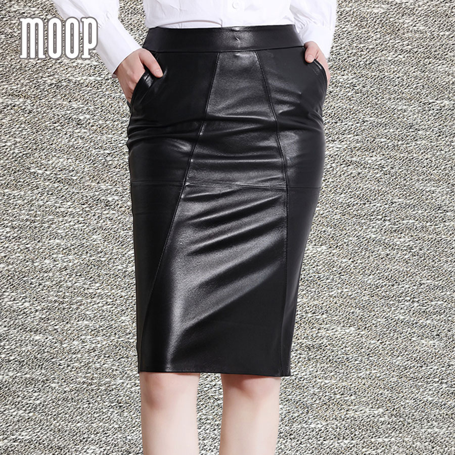 d7376eb807d OL style black red genuine leather skirts women slim split pencil skirt  faldas jupe saia etek grained lambskin skirt LT601-in Skirts from Women s  Clothing ...