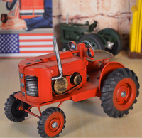 D tin automobile tractor model Home Furnishing creative home decoration decoration room retro furnishings toys