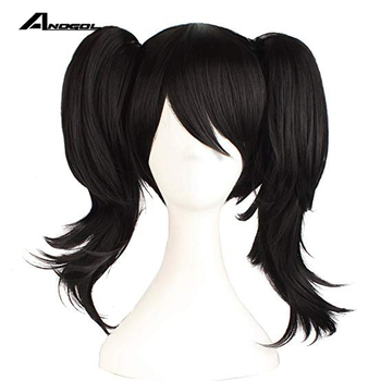 anogol brand new lovelive nico yazawa double clip ponytail black synthetic cosplay wig for japanese anime role play wig cap Anogol Brand New LoveLive! Nico Yazawa Double Clip Ponytail Black Synthetic Cosplay Wig For Japanese Anime Role Play+ Wig Cap