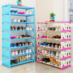 Image 3 - Many Layers Shoe Rack Non woven fabric Easy Assemble organize Storage Shelf Shoe cabinet fashion bookshelf Living Room Furniture
