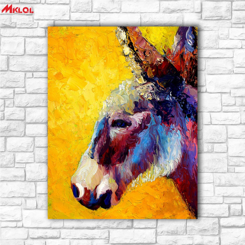 home goods wall art lovely Donkey canvas printed oil painting on ...