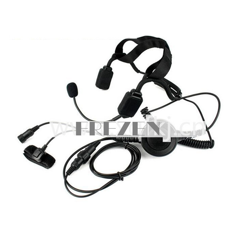 Military Bone Conduction Tactical Headset Boom Microphone For Vertex