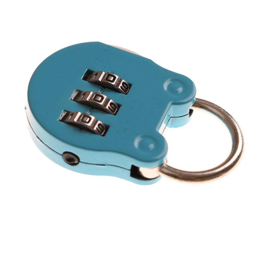2pcs Cartoon Mini Digital Password Padlock Briefcase Luggage Gym Lock Resettable 3 Dial Digit Combination Password Code Lock Aliexpress Com Imall Com