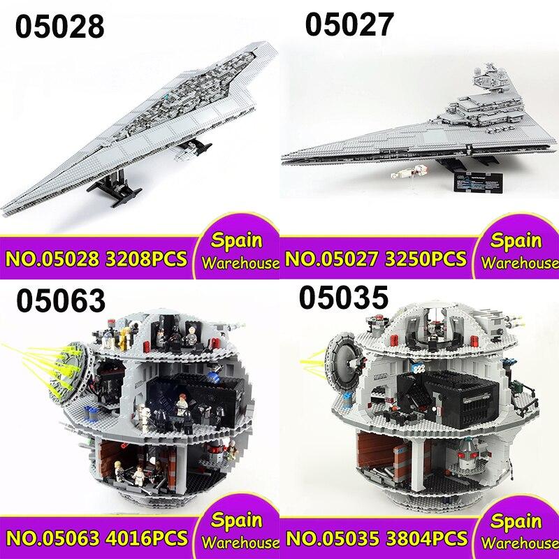 Lepinblocs 05132 05028 millénium Death Star Plan Falcon blocs de construction Star Wars navire Super Star Destroyer 10221 75192 jouets-in Blocs from Jeux et loisirs    1