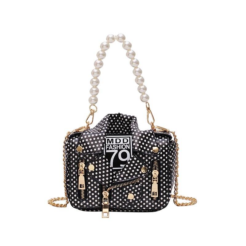 European Fashion Famous Brand Luxury Handbags Women Bags Designer Cool Jacket Shaped Punk Motobike Style Crossbody Bag For Women