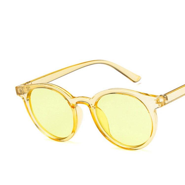 HAPTRON 2018 красный синий Круглые Солнцезащитные очки Для женщин Брендовая Дизайнерская обувь модные розовые желтое солнце винтажные очки, ретро оттенков