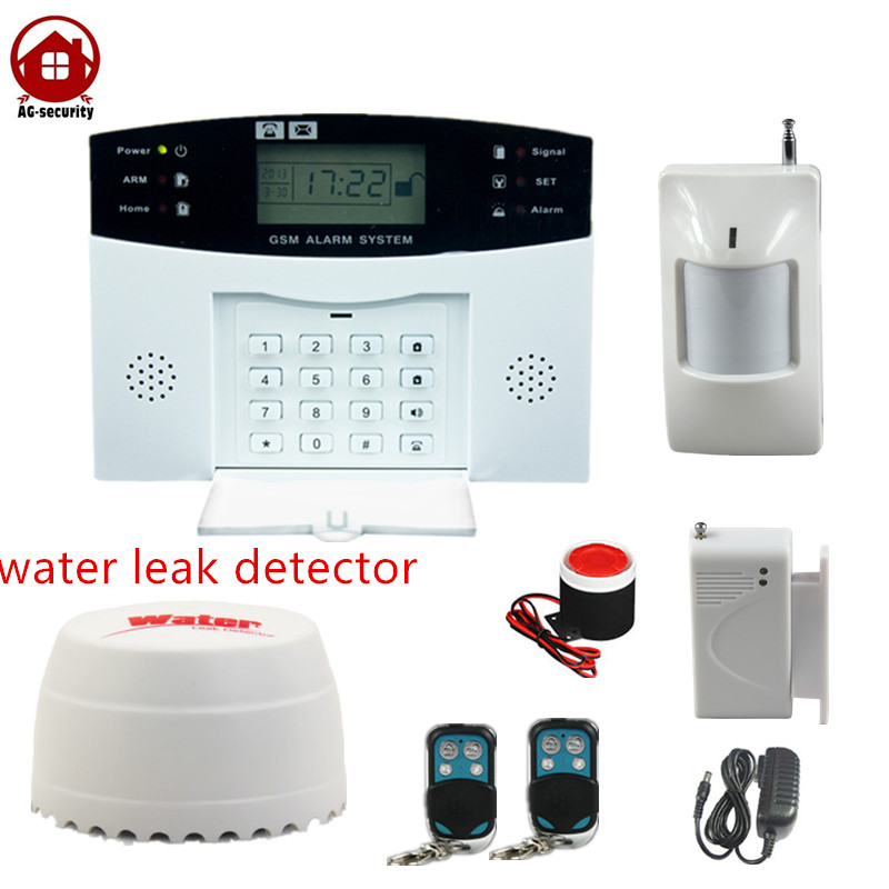 buy wireless gsm home business building alarm system with water leak detector. Black Bedroom Furniture Sets. Home Design Ideas