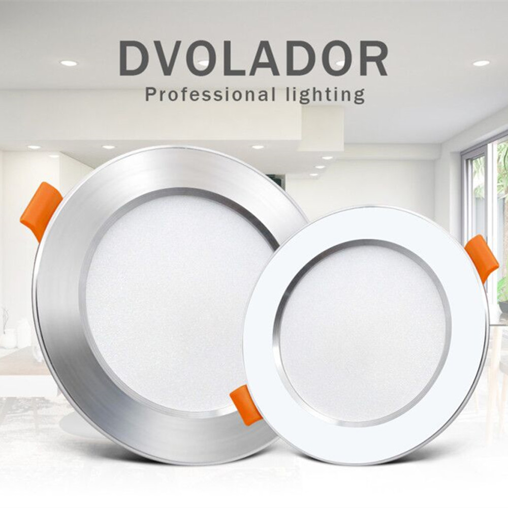 Silver White Led Downlight lights 12W 9W 7W spot led lights Warm White Natural White Ceiling Lamp Home Indoor recessed led down image