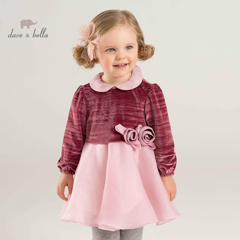 DB8508 dave bella baby Princess flower dresses girls wedding party birthday dress children boutique lolital long sleeve dressDB8508 dave bella baby Princess flower dresses girls wedding party birthday dress children boutique lolital long sleeve dress