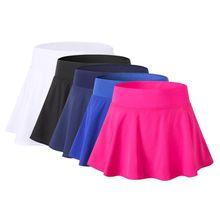 Спортивные юбки для тенниса, йоги, бадминтона, дышащие, быстросохнущие, для женщин, для спорта, против воздействия, теннисная юбка, для фитнеса, короткая юбка