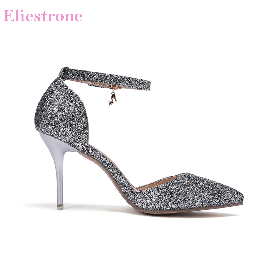 089710edc6c 2019 Brand New Summer Hot Silver Green Women Dress Sandals Stiletto Heels  Lady Party Shoes SX3