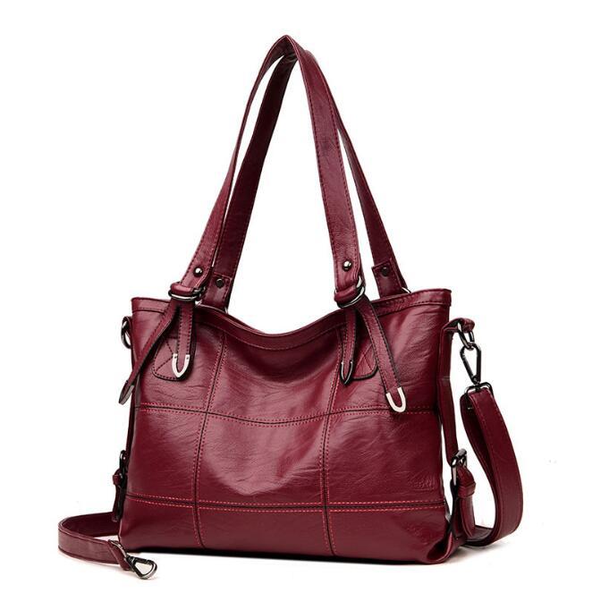02b6d430de88 2019 European style Fashion Women Bag Soft Leather Handbags Hot Ladies Shoulder  Bag Big Crossbody Bags for Women Messenger Bags