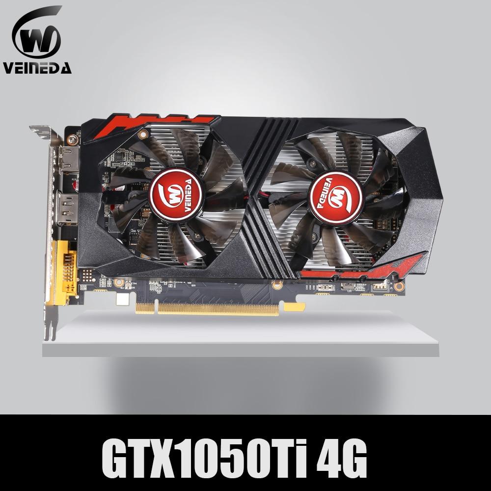 Placa de Vídeo para Computador Placa Gráfica PCI-E GTX1050Ti VEINEDA 4G DDR5 para nVIDIA Geforce GPU Jogo