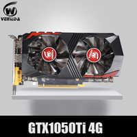 Tarjeta de vídeo VEINEDA para tarjeta gráfica PCI-E GTX1050Ti GPU 4G DDR5 para nVIDIA Geforce Game