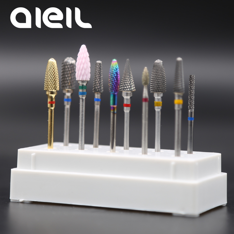 цена на Nail Drill Bits Carbide Ceramic Tungsten Nail Drill Bits Manicure Machine Milling Cutters For Manicure Electric Nail Drill