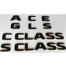 Black Letters Emblems Badges for Mercedes Benz AMG A B C E G M S GLA GLB GLC GLE GLS CLA CLS CL SL SLC ML V GL SLK CLK GLK CLASS