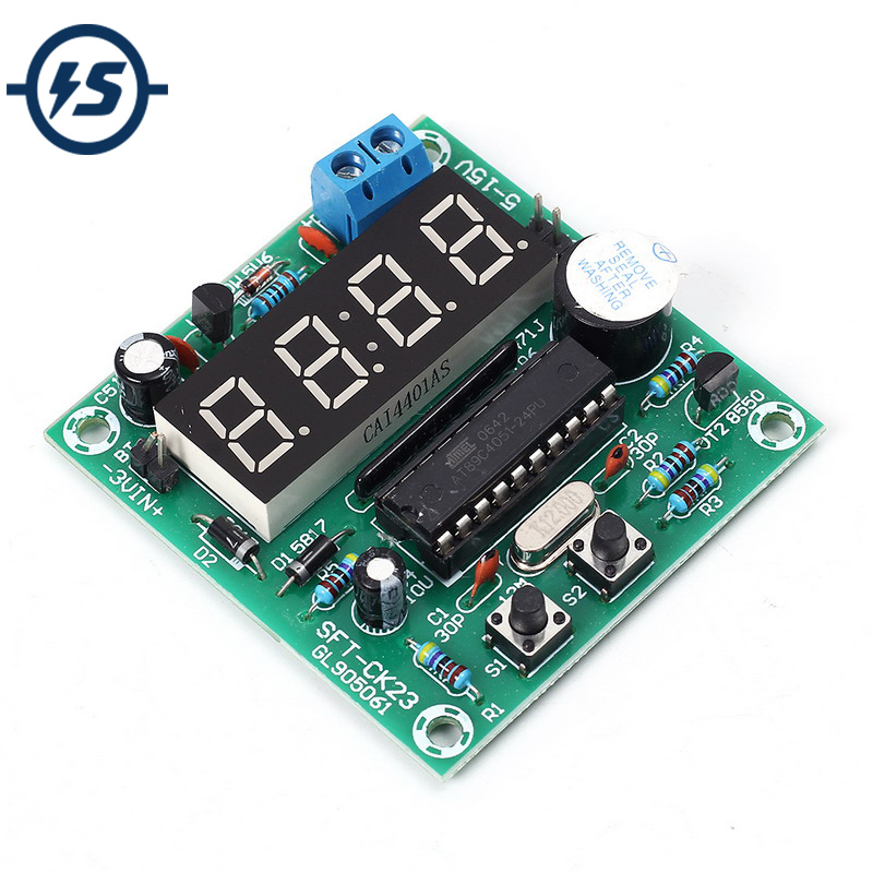 US $2 83 30% OFF|4 5 12V Multi function 4 Bits Digital Electronic Clock  Timing Control Board Real Time 4Bit LED Digit Dispaly-in Integrated  Circuits