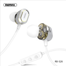 DUAL moving coil bluetooth 5.0 headset sports collar clip stereo wireless Magnetic attraction Rear suspension earphone