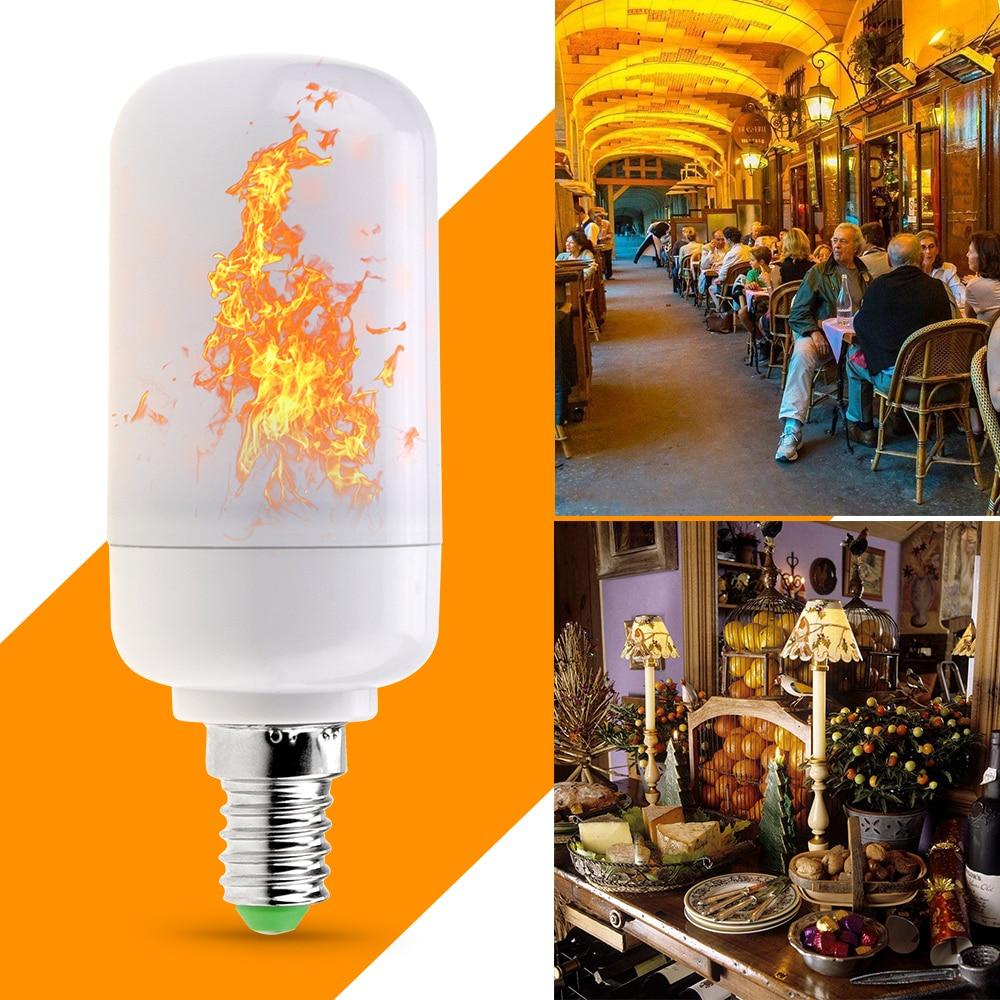 E26 LED Flame Lamp 110V E27 LED Flame Effect Light Bulb E14 5W 220V Creative Flickering Emulation Decoration Lights AC85-265V