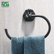 FLG Towel Rings Solid Brass Wall Mounted Towel Ring Towel Bath Storager Luxury Bathroom Accessories Home Decor Towel Rack стоимость