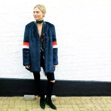 New Style High-end Fashion Women Faux Fur Coat 17S25