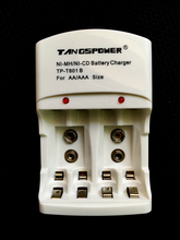 TangsPower Battery Charger For AA AAA 9V Ni-MH Ni-Cd Rechargeable T801B