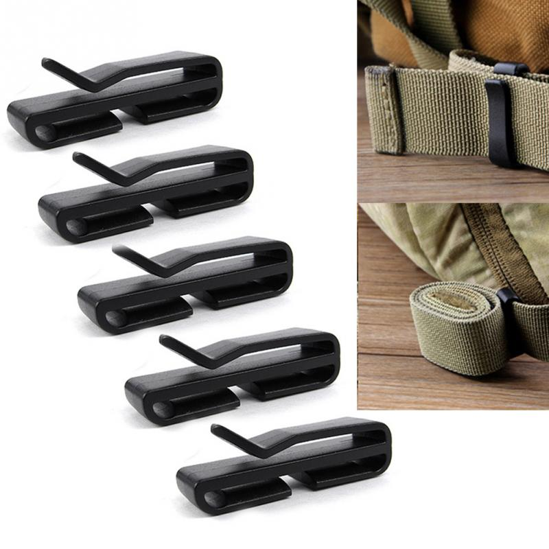 5 Pcs/Set Outdoor Hiking Tool Plastic Buckle Carabiner Keychain Waist Belt Clip Anti-lost Buckle Waist Buckle Clips