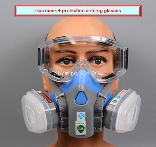 6dbff76d52f77 1 PCS Máscara de Gás Duplo Gás Químico Respirador Máscaras de Gás ...