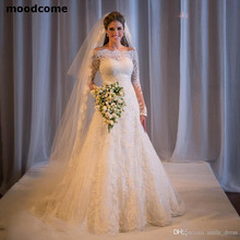 Robe de mariée sirène avec perles à manc ...