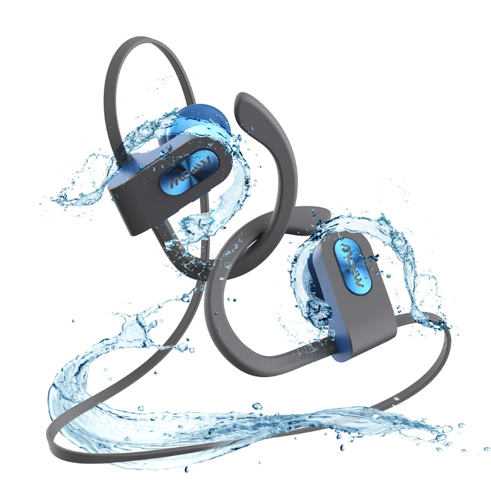 more photos b67c1 930c2 Mpow Flame Bluetooth 4.1 IPX7 Waterproof Headphone Noise Cancelling Headset  Built-in Mic Ear Hook For Phone iPhone Huawei Xiaomi